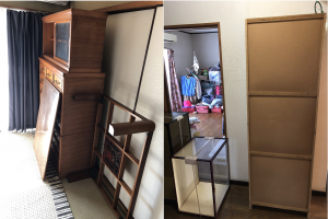 相良村でお引っ越しに伴う大型家具(婚礼ダンス、食器棚、ローテーブルなど)の回収のご依頼 お客様の声