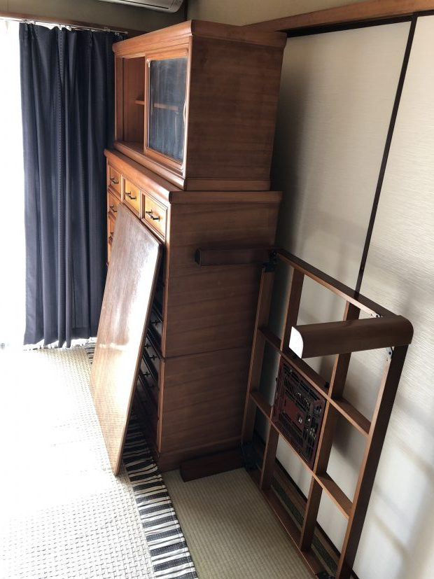 【相良村】婚礼ダンスや食器棚など大型家具の回収☆お引っ越しにも間に合いご満足いただけました!