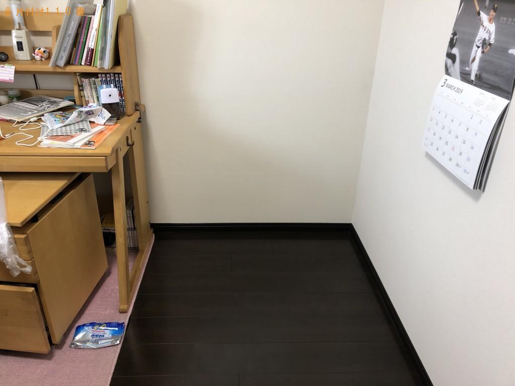 【熊本市北区】学習机の不用品回収処分 お客様の声