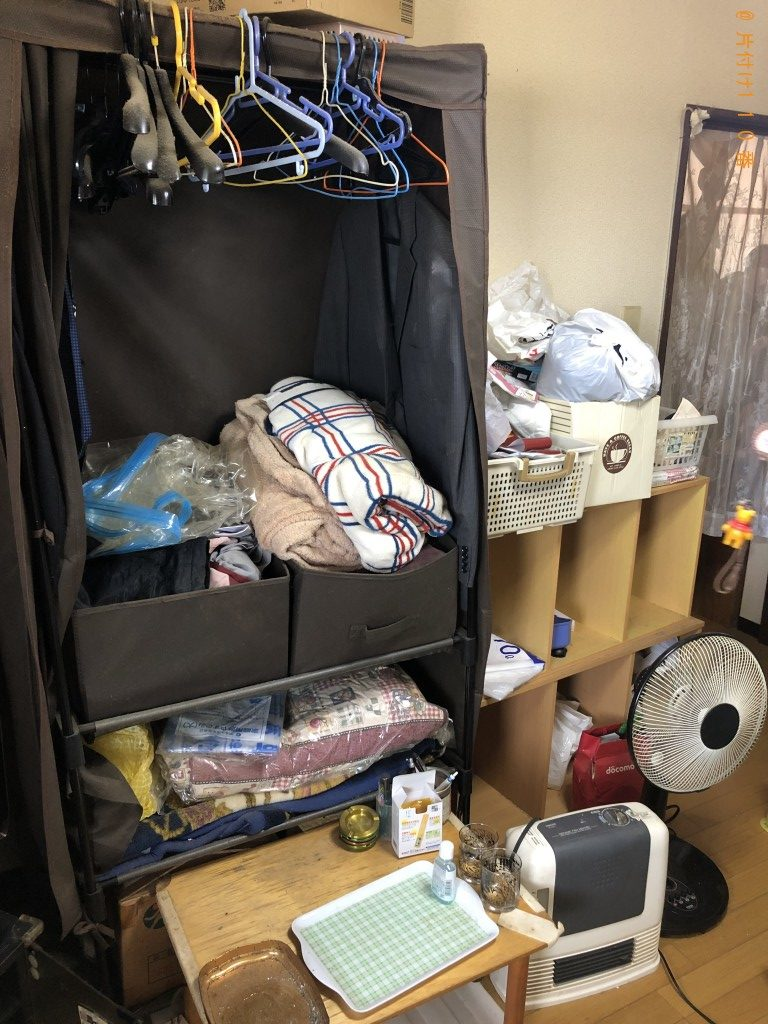 【嘉島町】収納棚、分別なし衣類、布団等の回収・処分