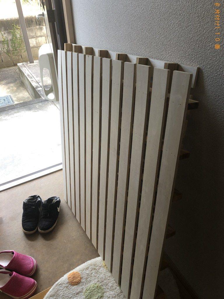 【熊本市南区】ガラステーブル、シングルベッドの回収・処分ご依頼