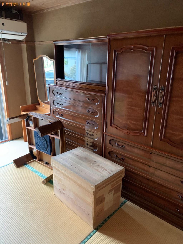 【天草市】冷蔵庫、食器棚、金庫、収納ボックス等の回収・処分ご依頼