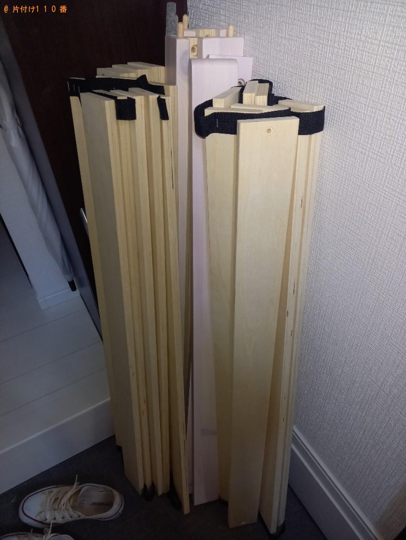 【熊本市】マットレス付きシングルベッドの回収・処分ご依頼