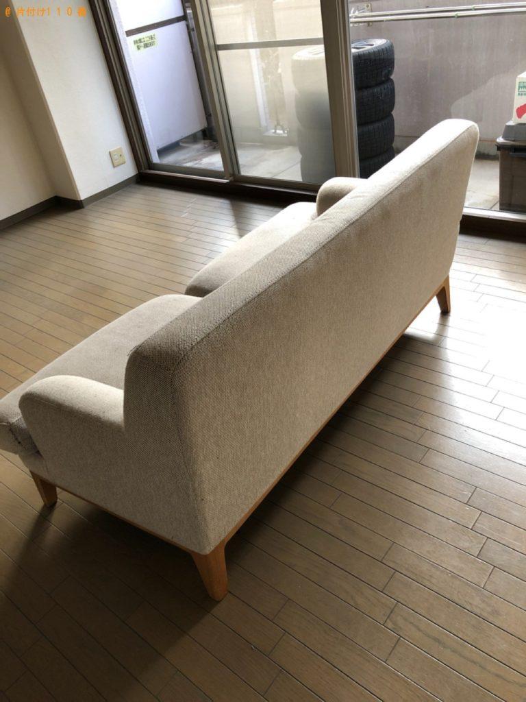 【天草市】遺品整理でソファー、テレビ台、マットレス付きダブルベッド等の回収